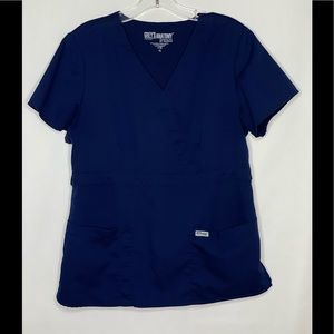 Grey's Anatomy XL Navy Scrub Top